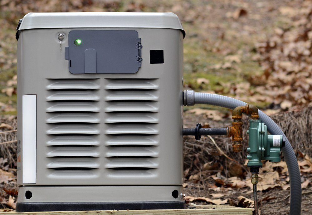 Image of a home backup generator for use during power outages.