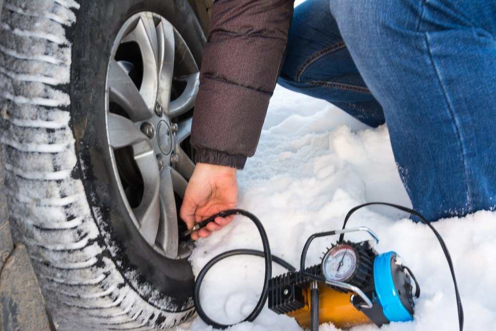 airing up low tires in winter with 12v compressor