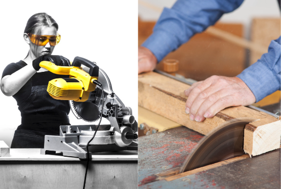 miter saw vs table saw header image