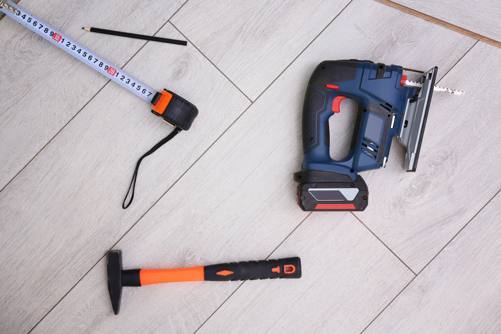 Image of a cordless jigsaw