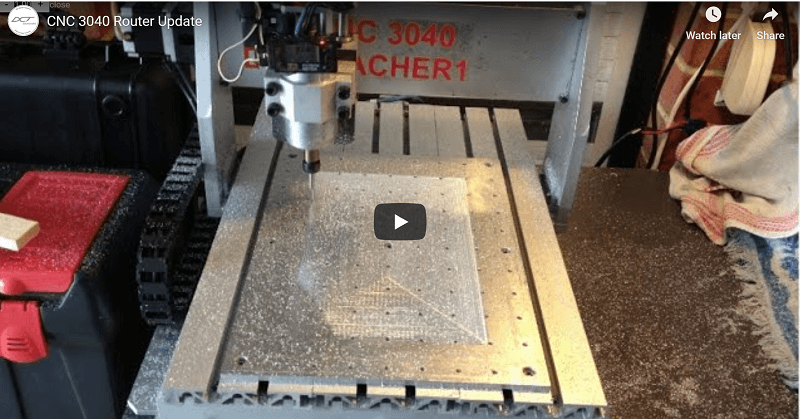 Youtube Video Demonstration of 3040 CNC