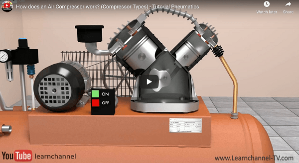 oragne two stage compressor with different piston sizes
