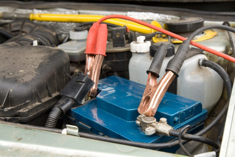 charging a car battery in the car