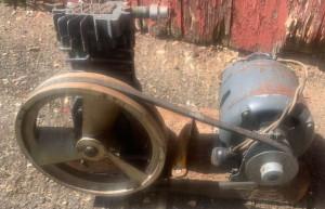 image of bad belt on air compressor