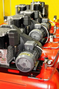 air compressors lined up