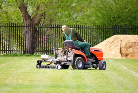 aerator behind lawn mower